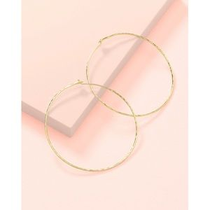 Stella & Dot NEW w/BOX Essential Hammered Hoops-GL